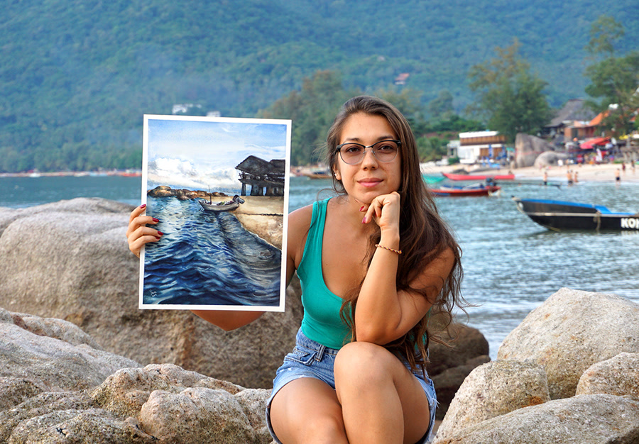 Yana Shvets - Watercolor Artist and Teacher