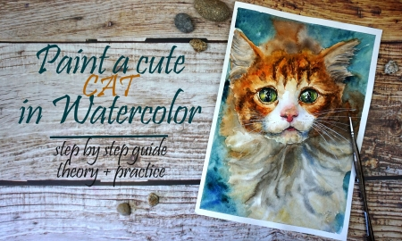 Paint a Cute Cat in Watercolor Step by Step